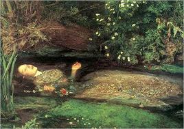 Ofelia (1852) di John  John Everett Millais  (1829-1896).  Fonte:  Wikipedia