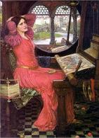 I'm half-sick of shadows, said the Lady of Shalott (1916) di John William Waterhouse. Fonte: Wikipedia