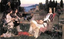 John William Waterhouse Santa Cecilia 1895. Fonte:  Wikipedia
