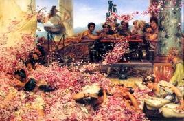 Lawrence Alma Tadema, Le rose di Eliogabalo. Fonte:  Wikipedia
