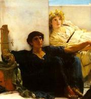 Lawrence Alma Tadema, Un passo di Omero – 1885. Fonte:  Wikipedia