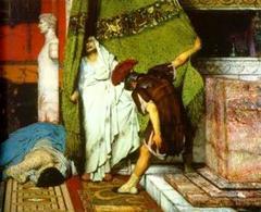 Lawrence Alma Tadema, Un imperatore romano del 41 dC. Fonte:  Wikipedia