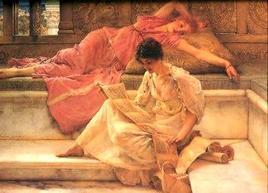 Alma Tadema, Il poeta preferito. Fonte:  Wikipedia