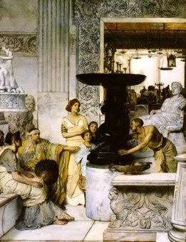 Lawrence Alma Tadema, la galleria di statue – 1874. Foto personale.