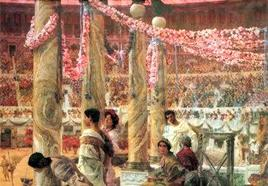Lawrence Alma Tadema Caracalla et Geta. Fonte:  Wikipedia