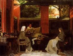 Lawrence Alma Tadema, Venanzio Fortunato. Fonte:  Wikipedia