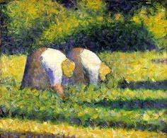 Georges Seurat, Farm Women at Work, 1882- 1883. Fonte: Guggenheim Collection