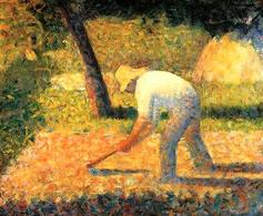 Georges Seurat, Peasant with Hoe, 1882. Fonte:  Flickr