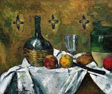 Paul Cézanne, Still Life: Flask, Glass, and Jug (Fiasque, verre et poterie), ca. 1877. Fonte: Flickr