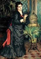Pierre Auguste Renoir, Woman with Parrot, 1871. Fonte:  Wikimedia