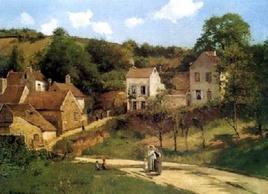 Camille Pissarro, The Hermitage at Pontoise, ca. 1867. Fonte: Agisoftware