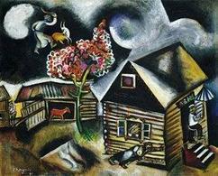 Marc Chagall, Rain (La Pluie), 1911. Fonte:  Artinthepicture