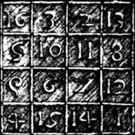 Albrecht Durer. Il quadrato magico della Melanconia. Fonte:  Pergioco