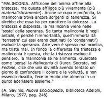 La malinconia per Savinio. Fonte:  Filosofico.net