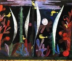 Klee Paesaggio con uccelli gialli. Fonte: Pintura