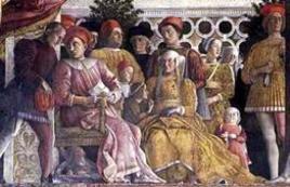 La famiglia Gonzaga. Mantova, Palazzo Ducale, Camera degli Sposi. Fonte: Wikipedia