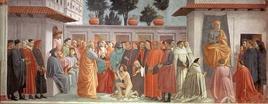 Camminare in quadro significa raccontare…. (Masaccio). Fonte: Wikipedia