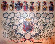 Albero genealogico floreale di Don Cosmo Canelles (1789). Fonte: Canelles.it