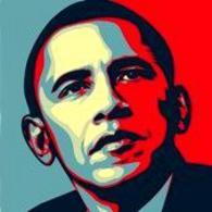 Shepard Fairey, Obama. Vincitore del premio design 2009. Fonte: Neublack.com