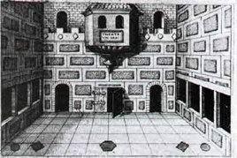 Il teatro, da R. Fludd, Ars Memoriae (in F.A.Yates, L'arte della memoria) Fonte: Golemindispensabile.it