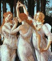 Botticelli,La Primavera, particolare. Fonte: Wikimedia