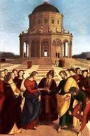 Raffaello, Lo sposalizio della vergine. Fonte. Wikipedia