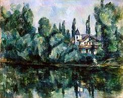 Cezanne, Le rive della Marna. San Pietroburgo, Museo dell'Ermitage. Fonte: Wikipedia
