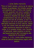 G.Bruno, L'arte della memoria, le ombre delle idee,Mimesis, 1996,  p. 115.