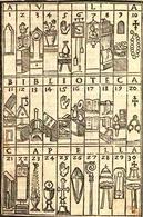 Sistema di memoria basato sull'interno di un'abbazia (J, Romberch 1553). Fonte: Fondamenti della letteratura italiana