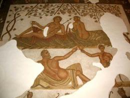 Arianna Bacco Sileno e Satiro,Museo del Bardo di Tunisi. Fonte: Wikipedia
