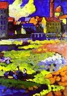 Kandinsky – Munich-Schwabing with the Church of St. Ursula. Fonte: Wikipedia