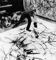 Pollock all'opera. Fonte: Kainos