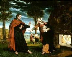 Hans Holbein il Giovane, Noli me Tangere. Fonte: Statenvertaling