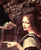 Leonardo da Vinci, Vergine delle Rocce, particolare. Fonte: Wikipedia