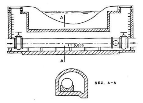 Attraversamento fluviale con tubazione in cunicolo praticabile