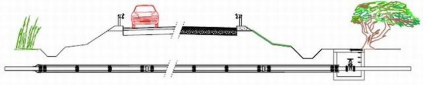 Attraversamento stradale mediante tubo guaina
