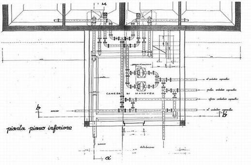Camera di manovra per serbatoio pensile di compenso e interrato di riserva