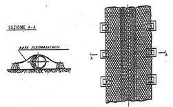 Protezione della condotta sottomarina mediante rete zincata