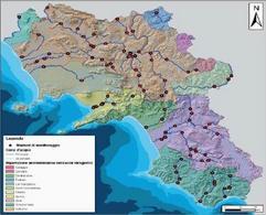Rete di monitoraggio acque superficiali (ARPAC, 2007)