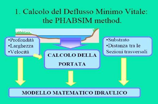 Procedura PHABSIM: misure idrauliche