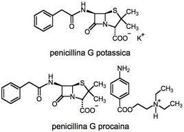 penicilina G potassica –  penicilina G procaina