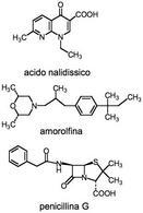 acido nalidissico – amorolfina – penicilina G.