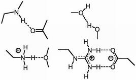 Esempi di legame a idrogeno.