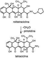 Trasformazione della rolitetraciclina in tetraciclina.