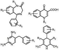 Alcuni scaffold impiegati diffusamente nella chimica farmaceutica.
