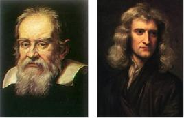 Fig. 2.1. A sinistra Galileo Galilei, a destra Isaac Newton.