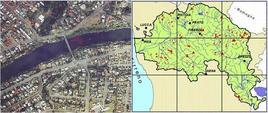 Fig. 1.7: Analisi dello scarico in un fiume (scala locale, a sinistra) e di un intero fiume (scala di sistema, a destra.