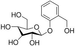 Salicina. Fonte: Wikimedia Commons