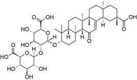 Acido glicirrizinico. Fonte: Wikimedia Commons