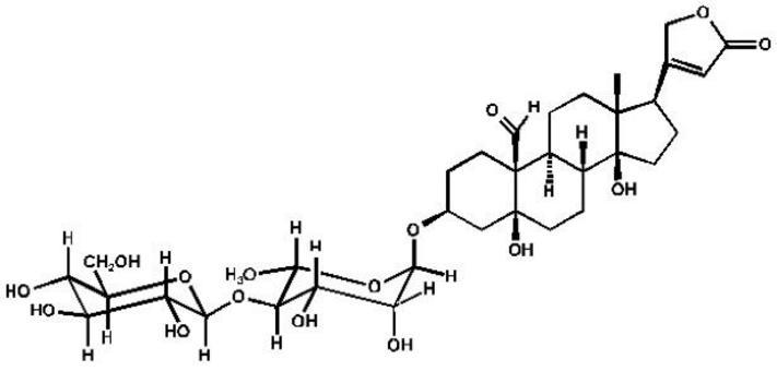 Strofantidina k (Cardenolide)